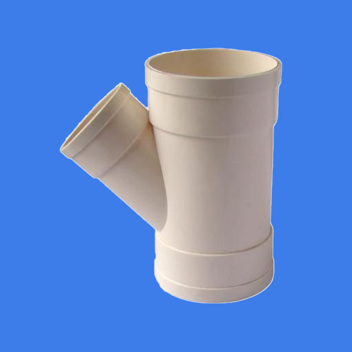 PVC-U drainage pipe 45° lateral (reducing on branch)