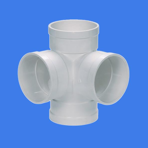 PVC-U drainage fittings stereoscopic straight cross