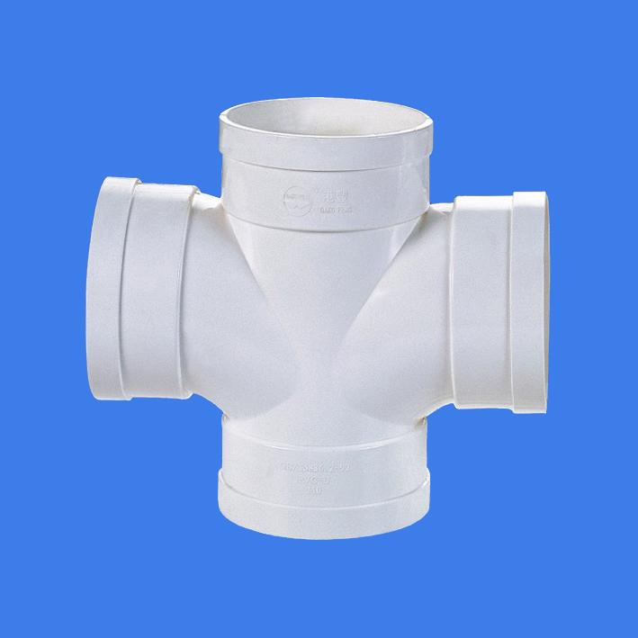 PVC-U drainage fittings sailing straight cross