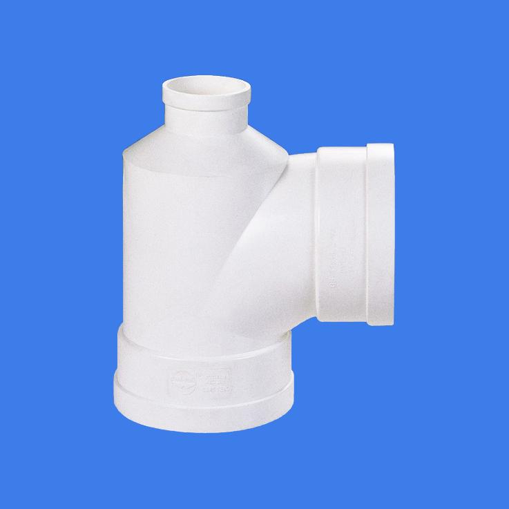 PVC-U drainage pipes bottle reducing tee